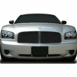 Mesh Replacement Grille For 2006 2010 Dodge Charger black Abs Premium Fx
