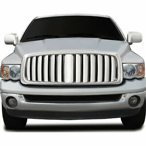 Vertical Bar Replacement Grille For 2002 05 Dodge Ram 1500 chrome Premium Fx