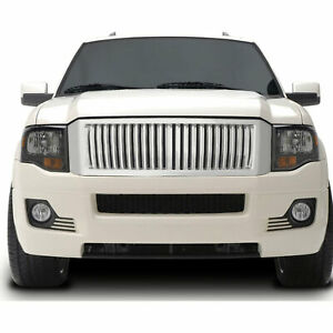Vertical Replacement Grille For 2007 2012 Ford Expedition chrome Premium Fx