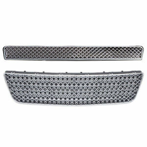 Bumper Top Mesh Replacement Grille For 06 11 Chevy Impala Bentley Style Chrome