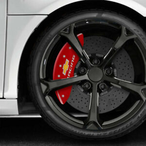 Red Mgp Caliper Covers W Chevy Racing For 2015 2017 Chevy Ss Fits Brembo