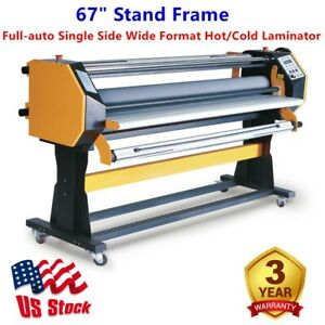 Us Stock 67 Stand Frame Full auto Single Side Wide Format Hot cold Laminator