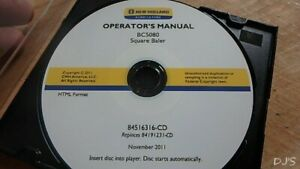 New Holland Bc5080 Baler Square Operators Manual On Cd Dn126