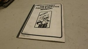 Brush Bandit Model 86 Chipper Operators Parts Manual Ci119