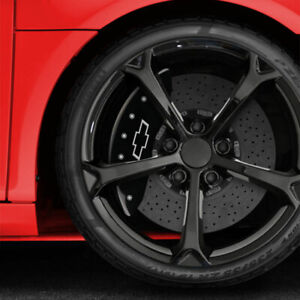 Black Mgp Caliper Covers W Bowtie For 2015 2017 Chevy Ss Fits Brembo
