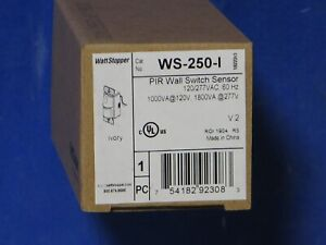 Watt Stopper Ws 250 i Pir Wall Switch Sensor Ivory 1000va 120v