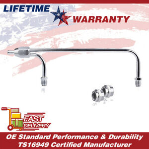 3 8 In 1552 Chrome Dual Inlet Fuel Line Fits For 4150 Double Pump Carb Silver