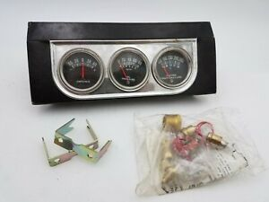 Nos Chieftan Illuminated 3 Oil Water Amp Gauge Set Cluster Auto Truck Tractor