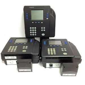 Lot Of 3 Kronos 4500 Digital Time Clock Touch Id Biometric Scanner