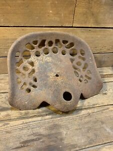 Antique Vintage Cast Iron Tractor Implement Seat Original Old Farm John Deere Mh