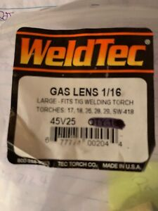 Weldtec 1 16 Gas Lens Torch Series 17 18 26 28 29 Sw 418 Package Of 3