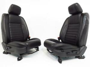Ford Mustang Seats Front Black Leather Powered Lumbar 2005 2006 2007 2008 2009
