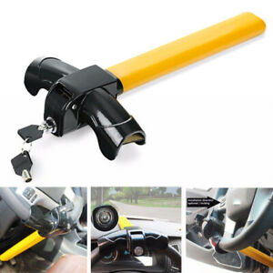 Universal Steering Wheel Lock Club To Pedal Car Anti Theft Truck Auto Van Safety