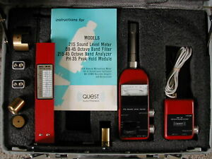 Quest 215 Sound Level Meter Aa 175 Test Set Cal Kit Octive Filter
