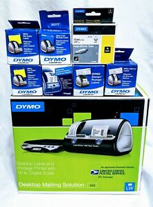 Dymo Labelwriter 450 Twin Turbo Label Thermal Printer With 10 Lb Digital Scale