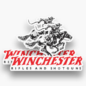 2x Winchester Stickers Decals Vinyl Firearm Gun Rifle Piston Classic Hunting