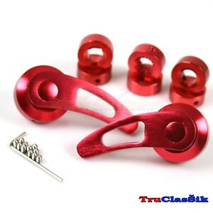 Billet Aluminum Custom 84mm Usa Red Window Cranks Handles Fits Dodge Chrysler