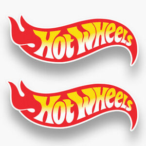 2x Hot Wheels Stickers Decals Vinyl Car Logo Racing Nascar Window Truck Usa Wall