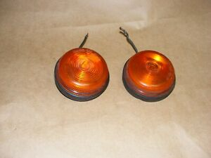 2 Vtg Petersen Mfg Amber Clearance Markers Pm 100 Sae 62 P Works
