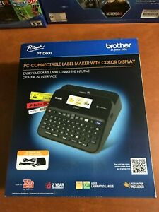 New In Box Brother P touch Pt d600 Label Maker Pc connectable Free Shipping