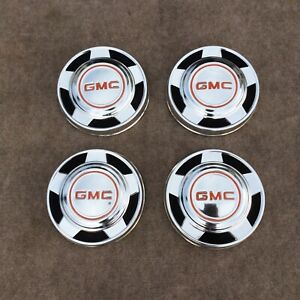 Set Of 73 87 Gmc Dog Dish C15 Pickup Truck 1 2 Ton Suburban Hub Cap Good Used