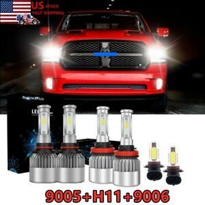 9005 H11 Led Headlight H l 9006 Fog Light For Dodge Ram 1500 2500 3500 2016 2018