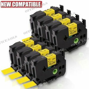 8 Pk Black On Yellow Label Tape 18mm For Brother P touch Tz 641 Tze 641 Us Stock