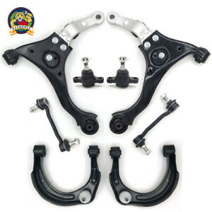 Front Upper Lower Control Arm Sway Bar Link Kit For 2006 2010 Hyundai Sonata