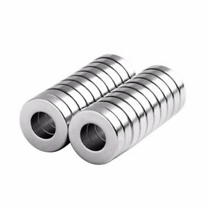 1 2 X 1 4 X 1 8 Inch Strong Neodymium Rare Earth Ring Magnets N52 20 Pack