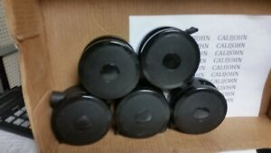 Casters 4 Inch Twin Wheel Gray Or Black black Has Locking Device