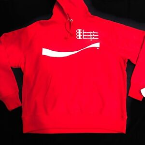 Champion x Coca-Cola Reverse Weave Limited Hoodie, Red/White - Men's Size 2XL