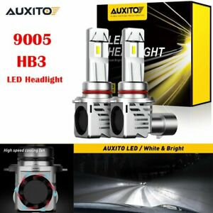 2x Auxito 9005 Hb3 12000lm Led Headlight Conversion Kit Bulbs High Beam Lamps