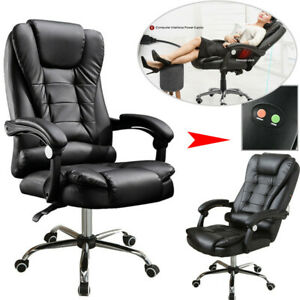 Black Executive Office Massage Chair Vibrating Ergonomic Computer Desk Chair New