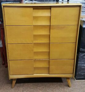 Heywood Wakefield Mid Century Highboy Dresser From The Trophy Collection