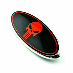 9 Inch The Punisher Logo Front Grille Emblem Oval Decal For Ford F150 Explorer