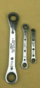 3 Snap on Ratcheting Box Wrenches R2426s R1214 R810a fs h