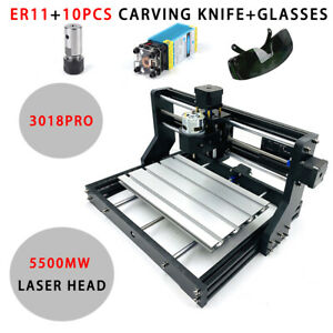 3018pro Cnc Machine Router 3axis Engraving Pcb Wood Carving Diy Milling Kit Usa