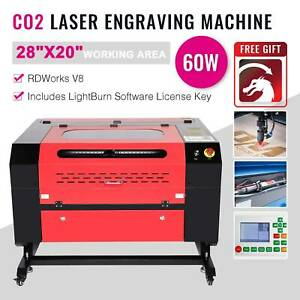Co2 Laser Engraver Cutter Machine 28x20 60w Ruida Dsp W lightburn License Key