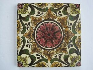 Antique Victorian 6 Craven Dunnill Print Tint Wall Tile C1880 1910
