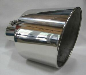 Chevy Duramax Polished Stainless bolt On Diesel Exhaust Tip 4 in 10 Out 15 l