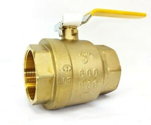 New 3 Ips Full Port Brass Ball Valve Csa Approved 600 Wog Lead Free Threaded