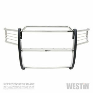 Westin Sportsman Grille Brush Guard Ss For Gmc 2500 3500 11 14 Cab chas s e cc