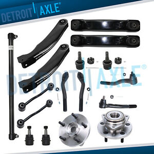 17pc Front Upper Lower Control Arm Suspension For 1999 2004 Jeep Grand Cherokee