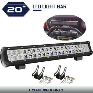 Led Light Bar 20inch 126w Flood Spot Combo Work Offroad Fog Light 4wd Atv Truck