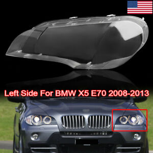 Left Driver Side Lens Lamp Cover Headlight Cover Lampshade For Bmw X5 E70 07 13