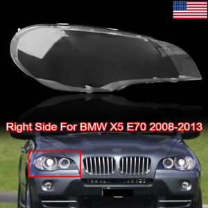 Headlight Lens Lamp Cover Headlight Cover Lampshade Right For Bmw X5 E70 07 2013