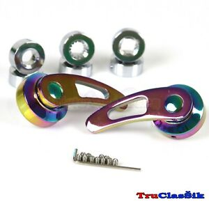 Billet Alum Custom 84mm Usa Neochrome Window Cranks Handles Fits Jdm Jpn Cars