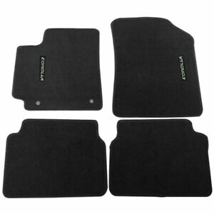 For 09 11 Toyota Corolla Floor Mats Carpet Front Rear Nylon Black W Corolla