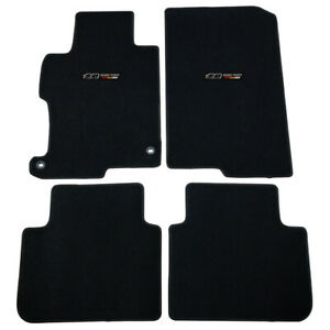 For 13 17 Honda Accord 4dr 2dr Floor Mats Front Rear Nylon Black Carpet W Decal