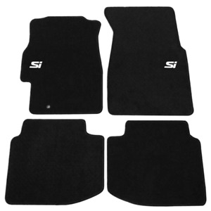 For 96 00 Honda Civic Floor Mats Front Rear Non slip Carpets Nylon Black W Si